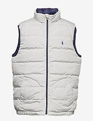 Ralph Lauren Kids - Reversible Quilted Down Vest - vests - french navy/grey - 2