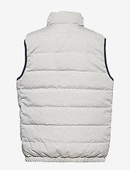 Ralph Lauren Kids - Reversible Quilted Down Vest - vests - french navy/grey - 3