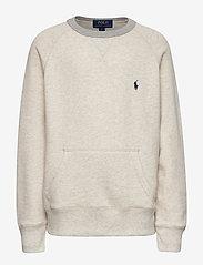 Ralph Lauren Kids - Twill Terry Sweatshirt - sweatshirts - new sand heather - 0