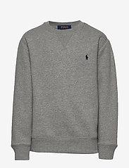 Ralph Lauren Kids - Cotton-Blend-Fleece Sweatshirt - sweatshirts - dark sport heathe - 0