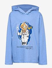 Ralph Lauren Kids - Beach Bear Hooded Tee - bluzy z kapturem - fall blue - 0