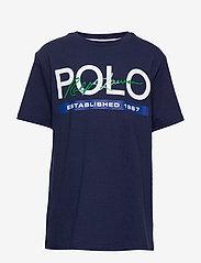 Ralph Lauren Kids - Cotton Jersey Graphic Tee - short-sleeved - newport navy - 0