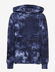 Ralph Lauren Kids - Flag Cotton Mesh Hooded Tee - pulls à capuche - newport navy - 0