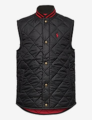 Ralph Lauren Kids - SOLID PENNY-BASBLL VEST-OW-VST - vests - polo black - 0