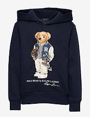 Ralph Lauren Kids - Football Bear Fleece Hoodie - hoodies - newport navy - 0