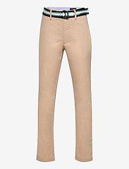 Belted Super Skinny Stretch Chino Pant - CLASSIC KHAKI