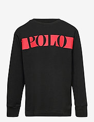 Ralph Lauren Kids - Logo Cotton Jersey Tee - long-sleeved t-shirts - polo black - 0