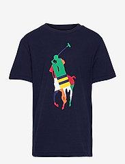 Ralph Lauren Kids - Big Pony Cotton Jersey Tee - pattern short-sleeved t-shirt - newport navy - 0