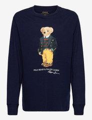 Ralph Lauren Kids - Polo Bear Cotton Jersey Tee - long-sleeved t-shirts - cruise navy - 0