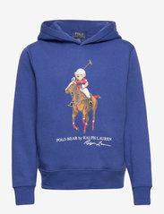 Polo Bear Fleece Hoodie - BLUE YACHT