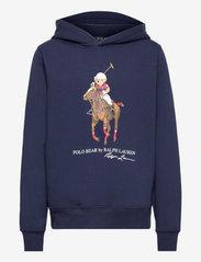 Ralph Lauren Kids - Polo Bear Fleece Hoodie - hoodies - cruise navy - 0