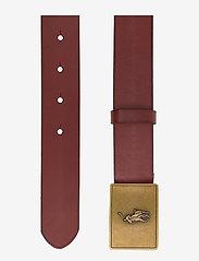 Ralph Lauren Kids - PRL Leather-Trim Cotton Belt - belts - brown - 1