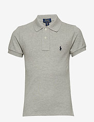 Ralph Lauren Kids - Custom Fit Cotton Mesh Polo - poloskjorter - nw grey heather - 0