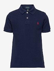 Cotton Mesh Polo Shirt - FRENCH NAVY