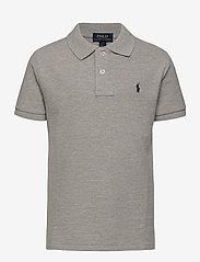 Cotton Mesh Polo Shirt - NEW GREY HEATHE