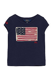 ENZYME COTTON JRSY-SS FLAG TEE-TP-K - NEWPORT NAVY