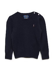 Wool-Cashmere Crewneck Sweater - RL NAVY