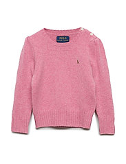 Wool-Cashmere Crewneck Sweater - WINE ROSE HEATHER