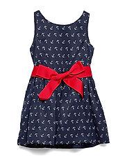 Anchor-Print Twill Dress - ANCHOR PRINT