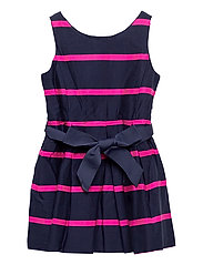 Striped Cotton Sateen Dress - FRENCH NAVY MULTI