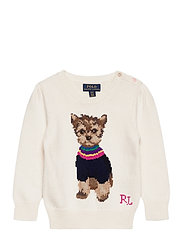 COTTON WOOL BLEND-DOG SWEATER-TP-SW - CLUBHOUSE CREAM