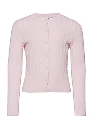 Mini-Cable Cotton Cardigan - HINT OF PINK
