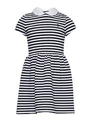 STRUCTURED KNIT-STRIPE DRESS-DR-KNT