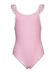 Ralph Lauren Kids - Gingham One-Piece Swimsuit - swimsuits - baja pink/white - 0