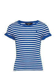 COTTON MODAL-STRIPE TEE-TP-KNT