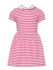 STRUCTURED PONTE-STRIPE PONTE-DR-KN - ULTRA PINK/WHITE