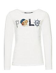 Polo Bear Logo Jersey Tee - WHITE