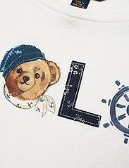 Ralph Lauren Kids - Polo Bear Logo Jersey Tee - long-sleeved t-shirts - white - 2