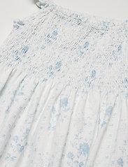 Ralph Lauren Kids - Floral Tiered Cotton Jersey Dress - kleider - blue-white - 2