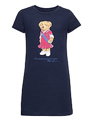 Polo Bear Cotton Jersey Tee Dress - NEWPORT NAVY