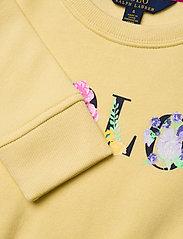 Ralph Lauren Kids - Floral-Logo Fleece Dress - dresses - banana peel - 2