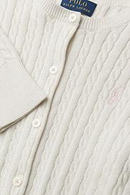 Ralph Lauren Kids - Mini-Cable Cotton Cardigan - gilets - warm white - 2
