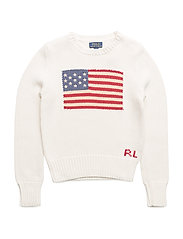 Flag Cotton Crewneck Sweater - ESSEX CREAM