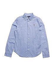 LS OXFORD-TOPS-SHIRT - BLUE HYACINTH