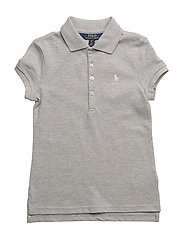 COTTON MESH-SS POLO SHRT-TP-KNT - ANDOVER HEATHER