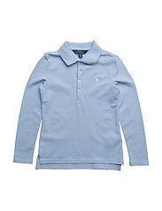COTTON MESH-LS POLO-TP-KNT - ELITE BLUE