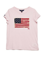 Washed Cotton Graphic Tee - HINT OF PINK