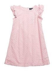Eyelet Cotton Dress - HINT OF PINK