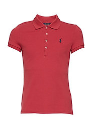 Stretch Mesh Polo Shirt - NANTUCKET RED