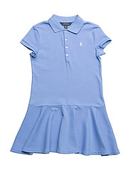 Stretch Mesh Polo Dress - HARBOR ISLAND BLU