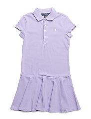 Stretch Mesh Polo Dress - POWDER PURPLE