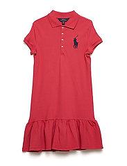 Big Pony Mesh Polo Dress - NANTUCKET RED