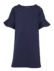 Ponte Bell-Sleeve Dress - FRENCH NAVY