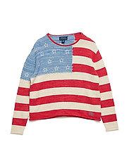 Flag Cotton Rollneck Sweater - FLAG MULTI