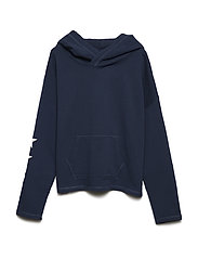 DRAPEY TERRY-STAR HOODIE-TP-KNT - SUMMER NAVY