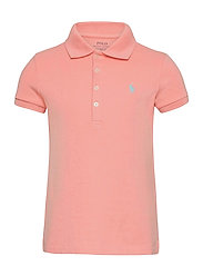 Stretch-Cotton-Mesh Polo Shirt - DECO CORAL